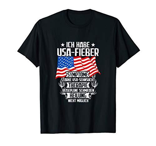 Lustiges Ich habe USA Fieber T-Shirt | Sprüche Shirt (Trip Road Motorrad)