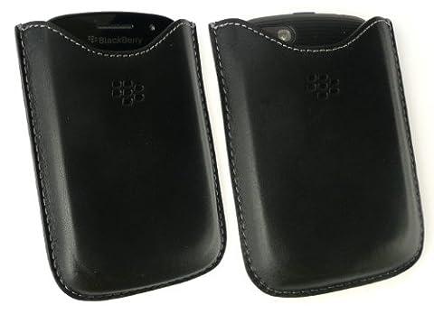 Original Blackberry Schwarz Premium Leather Pocket In Bulk-Verpackung Geeignet für Blackberry 9720