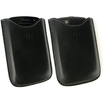 Genuine Blackberry Black Premium Leather Pocket in Bulk Packaging suitable for Blackberry 9720 + Emartbuy® Screen Protector