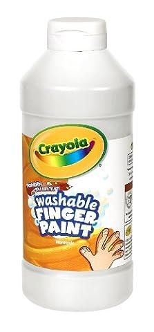 Crayola; Washable Fingerpaint; Art Tools; 32-Ounce Plastic Squeeze Bottle; Bright, Bold Colors;
