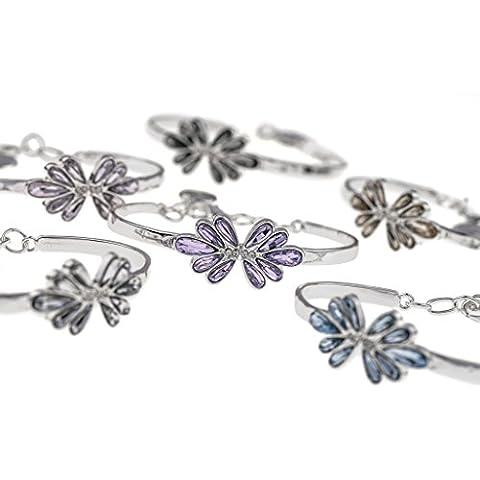 Of Sweden Snö - Collar con colgante de elegido papillon - gris - 42 cm/40,64 cm