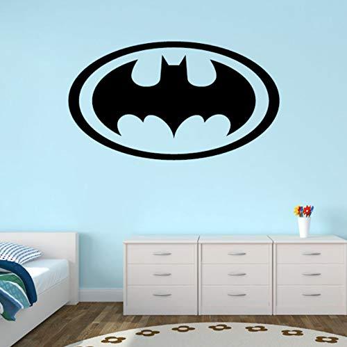 (Yirenfeng Design Batman Logo Wandaufkleber Für Schlafzimmer Vinyl Baby Boy Kindergarten Wandtattoo Wasserdicht Abnehmbare Für Kinderzimmer)