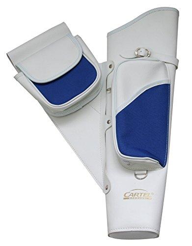 Preisvergleich Produktbild Bogensport Seitenköcher Cartel weiß-blau
