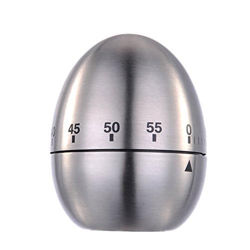 Zsl Eieruhr Edelstahl Kurzzeitmesser mit Stoppuhr (Ø x H) 61 mm x 77 mm