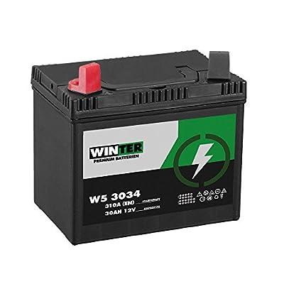 WINTER Premium Rasentraktor Batterie Aufsitzmäher 30Ah 12V 310A/EN (Plus Pol Links) 53034