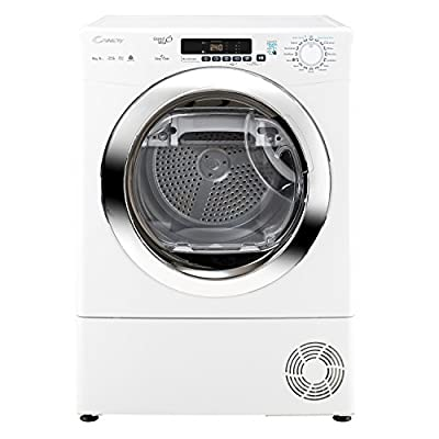 Candy GVSH9A2DCE 9kg A++ Rated 2 Temps Heat Pump Condenser Tumble Dryer with Timer in White by Candy