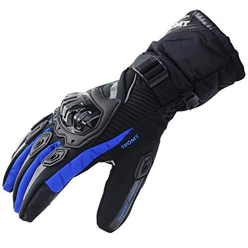 MYSdd Guanti moto 100% impermeabili e antivento con protezione touchscreen invernale caldo2XL