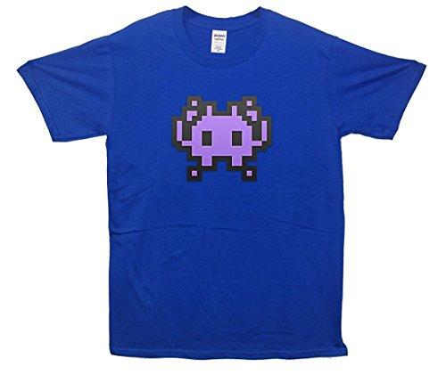 Alien Monster Emoji T-Shirt Blau