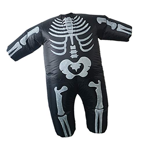 P Prettyia Aufblasbares Kostüm Kinder Fatsuit Luft Fett Anzug mit Skelett Figur, Geeignet für Menschen 1.5 - 2 M (Fett Skelett Kostüm)