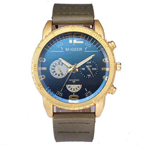 YULINGSTYLE Die Beste Paargeschenkuhr High-End Fashion Herren Edelstahl Uhr Analog Alloy Quarzuhr und Elegante Uhr