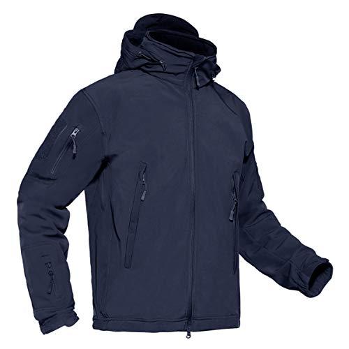 41cq5XtSLNL. SS500  - KEFITEVD Men's Waterproof Tactical Fleece Jackets Soft Shell Combat Jacket Raincoat with Detachable Foldaway Hood