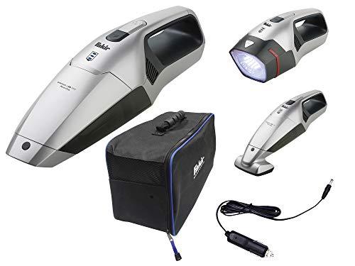 Fakir AS 1111 Premium / Camping-Staubsauger mit LED-Lampe, Akku-Handstaubsauger, Lithium-Ionen Akku, 2 Lademöglichkeiten, Tierhaare, Elektrobürste  –  75 Watt