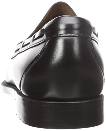 GH Bass & Co Lexington Rund Leder Slipper Black