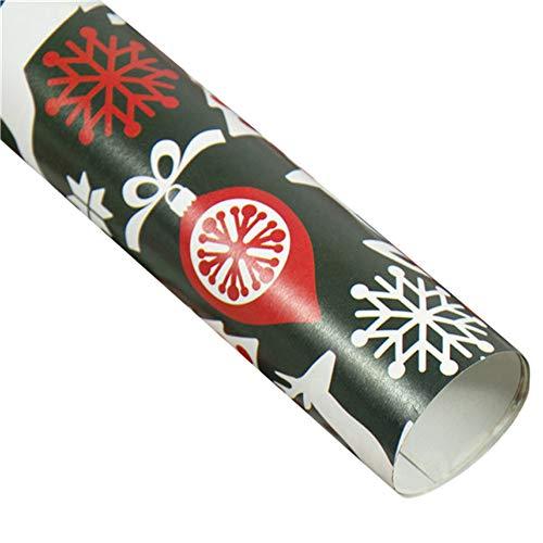 TAOtTAO Cutter Schneidwerkzeuge + 3 Weihnachtspapier Geschenk Geschenk Baum Santa Wrap Dekorative Weihnachtsparty Roll Dekoration Box DIY Handgemachtes (E1, Geschenkpapier) (Elektrische Baum-cutter)