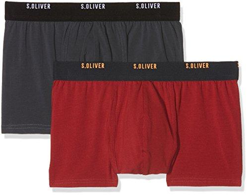 s.Oliver Herren Boxershorts 2R.895.97.4253 Mehrfarbig (Red & Grey 18d1) Medium (Herstellergröße: 5)