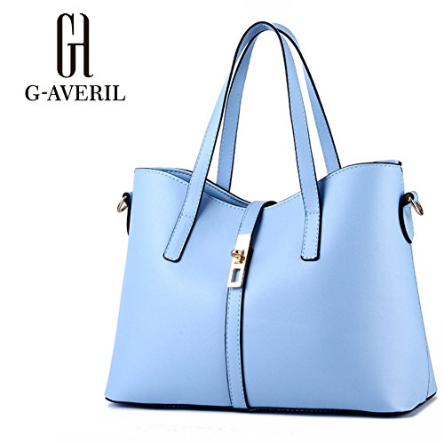 (G-AVERIL) Donna Handbag borsa a Spalla Borse a mano Tote Bag Shoulder Bag con blu