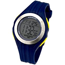 Umbro U663U Gents Watch Quartz Analogue and Digital Grey Dial Blue Plastic Strap