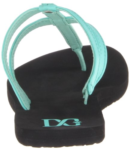DC Shoes Addison Womens D0303361, Tongs femme Black/Columbia Green