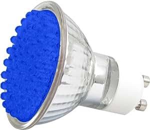 ledgalaxy led strahler mit 60 leds gu10 blau baumarkt. Black Bedroom Furniture Sets. Home Design Ideas