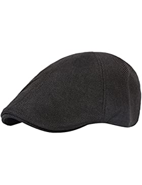 Zhhlaixing Unisex Vintage Linen Flat Cap Newsboy Driving Hat CQ0039
