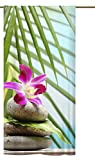 gardinen-for-life Schlaufenschal Orchidee Südsee, Edler Schlaufenschal mit verdeckten Schlaufen, Hochwertiger Digitaldruck 140 cm Breit 245 cm Hoch
