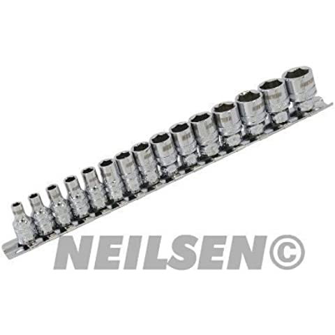 Xi-on Socket Set - 15pc 1/4 in.Dr 27CT2414 by Neilsen