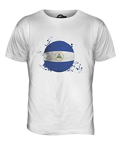CandyMix Nicaragua Fußball Herren T Shirt Weiß