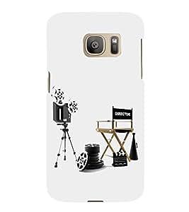 HiFi Designer Phone Back Case Cover Samsung Galaxy S7 Edge :: Samsung Galaxy S7 Edge Duos :: Samsung Galaxy S7 Edge G935F G935 G935Fd ( Director Camera Chair Reel Mic Dream Actor job )