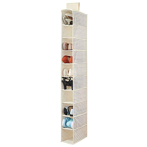 MDesign Organizador de zapatos para armario - Muebles zapateros para colgar con 10 compartimentos ...