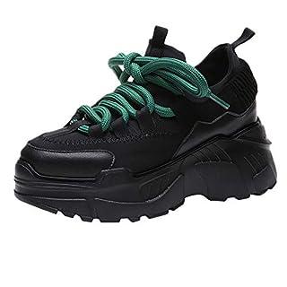 WWricotta Damen Sportschuhe Atmungsaktiv Turnschuhe Laufschuhe Schnürschuhe Freizeitschuhe Outdoor Sneaker Shoes Plateauschuhe Flache Schuhe