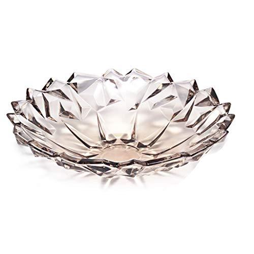Obstteller Kristallglas Obstkorb Wohnzimmer Couchtisch Obstschale Süßigkeit Dörrobst Imbiss-Platte obstteller (Color : E) -