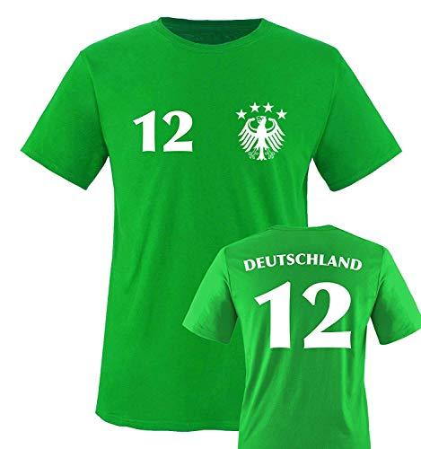 Trikot - Deutschland - 12 - Kinder T-Shirt - Grün/Weiss Gr. 152-164