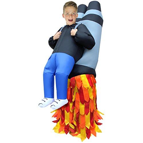 Morph MCKROIJP Aufblasbares Kostüm, Unisex, Rakete, Einheitsgröße Kinder