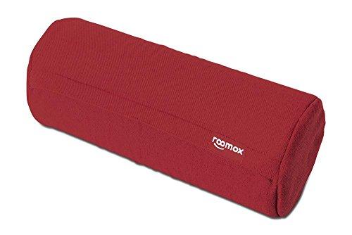 ROOMOX Kissenrolle Noodle universell einsetzbar mit besten Komfort Durchmesser 17,5 x 42 cm, Stoff rot