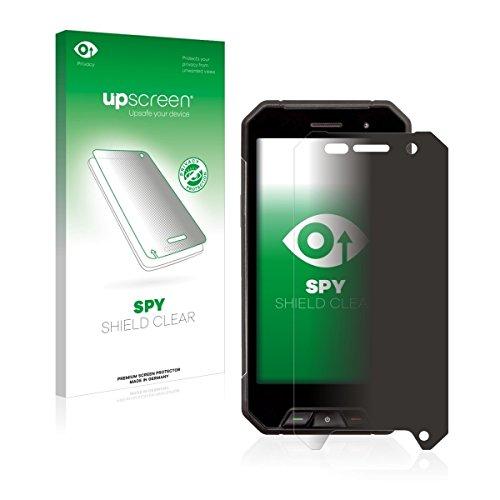 upscreen Spy Shield Clear Blickschutzfolie / Privacy für Cyrus CS 27 (Sichtschutz ab 30°, Kratzschutz, selbstklebend)