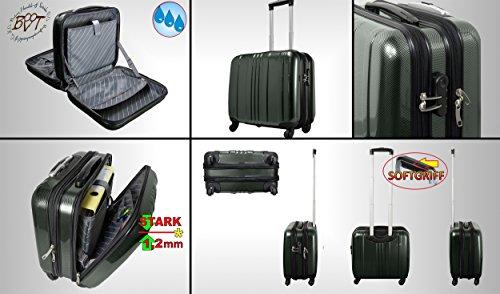 Große XXL Pilotentasche schwarz, Platz Pilotenkoffer-Setangebot standfest, Business- & Reisekoffer, geräumige Tasche mit Rollen