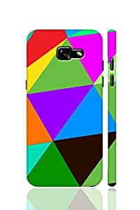 AMAN Triangle Colours Design 3D Back Cover for Samsung Galaxy A3 2017