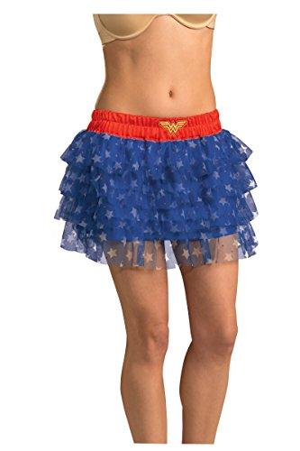 Wonder Woman Damen Rock Pailletten Erwachsenen Uniform Kostüm Kleid-Logo von DC (Shirt Pailletten Erwachsene Kostüme)