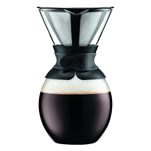 Bodum, Caffettiera con Filtro in Vetro borosilicato, capacità 1,5 Litri, Nero (Black)