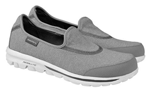 Skechers , Damen Walkingschuhe schwarz schwarz Grau