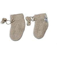 100% Kaschmir Baby Booties Socken, 4 PLY Mongolian Kaschmir 26/2 Garn, gestrickt, Braun Neugeboren 6-18 Monate Moksha Kaschmir