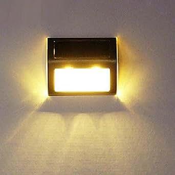 Modern solar led wall light outdoor light garden light stair light yellow lighting - Modern outdoor solar lights ...