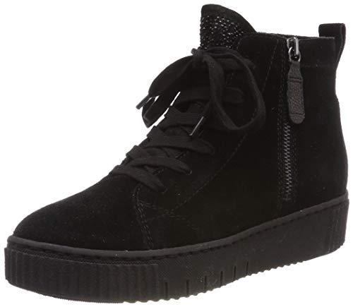Tamaris Damen Plateaustiefeletten 25219-21,Frauen Stiefel,Boots,Halbstiefel,Plateau-Bootie,Nieten,Blockabsatz 4.5cm,Black,EU 40
