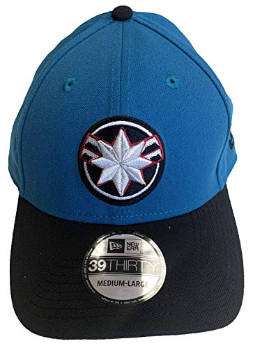 Captain Marvel Movie Star Force PX Neo New Era 39Thirty Flexfit Cap Mütze, Medium/Large -