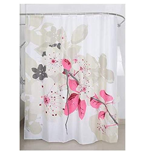 Magic Vida Dekorative Blumen Duschvorhang Pfirsichblüte Nature Series mit lebendigen Farben