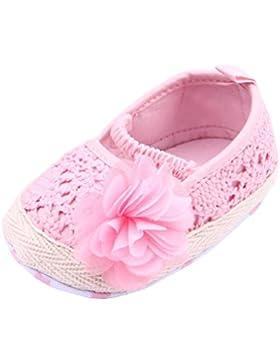 EOZY Zapatos De Bebé(0-1años) Princesa Con Flor Tela De Algodón Verano