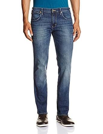 Wrangler Men's Greensboro Regular Fit Jeans (8907222488116_WRJN5768X_28W X 33L_Tinker Blue)