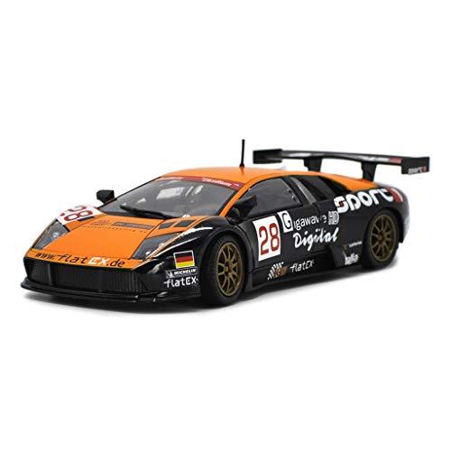 IVNGRI-Auto Model 1:24 Murcielago Roadster Alloy Automodell zu öffnende Türen Sound und Licht zurückziehen Rennwagen Spielzeugmodell - Orange (Nissan Model Kit Auto)