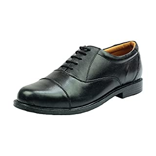 Cadet Parade Shoes. Oxford Capped Suitable For ATC, Army cadets CCF Etc (11 UK, Black)