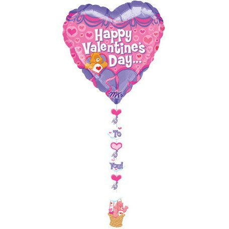 (Drop A Line Care Bear Valentine 's Day Mylar Ballon)